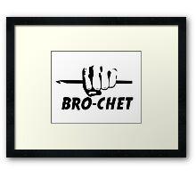 Bro-chet Framed Print