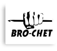 Bro-chet Canvas Print
