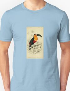 Vibrant image of a Toucan from an 1849 dictionary of natural history T-Shirt