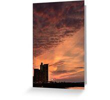 Sun-dusk, Charles River, Boston Greeting Card