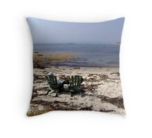 Time Out on a Beach Throw Pillow