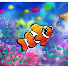 Clown Fish  with Coral by murals2go