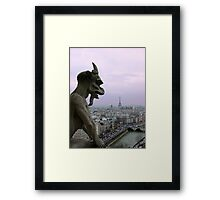 The Coming Night in The City of Light Framed Print