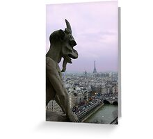 The Coming Night in The City of Light Greeting Card