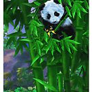 Panda in Bamboo by murals2go