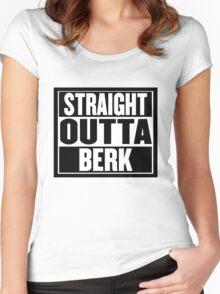 """Straight Outta Berk"" Women's Fitted Scoop T-Shirt"