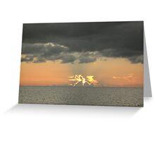 terrific sunset Greeting Card