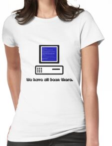 Blue Screen  Womens Fitted T-Shirt