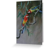 Easter Rosellas Greeting Card