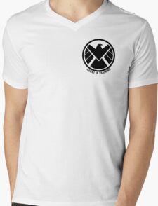 Agent In Training (Black) Mens V-Neck T-Shirt