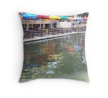 An Umbrella's Reflection - San Antonio, TX Throw Pillow