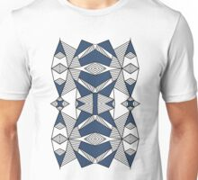 Triangle Tribal #2 Navy Unisex T-Shirt