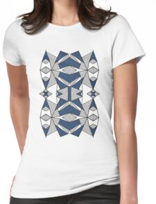 Triangle Tribal #2 Navy Womens Fitted T-Shirt