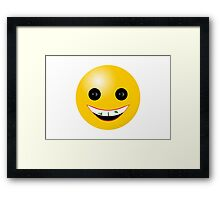 Spinach in Teeth Smiley Framed Print