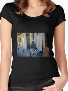 Out for a Stroll - Carcaixent, Spain Women's Fitted Scoop T-Shirt