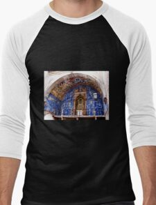 Ornate Tiled Facade - Obidos, Portugal Men's Baseball ¾ T-Shirt