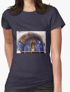 Ornate Tiled Facade - Obidos, Portugal Womens Fitted T-Shirt