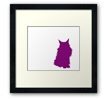 Purple Silhouette: Willow Framed Print