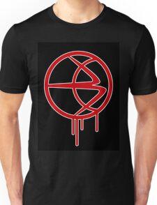 Red B (on black) Unisex T-Shirt