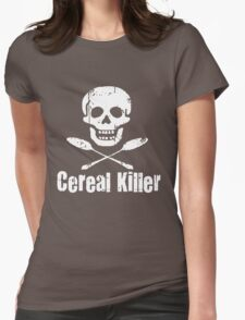 Cereal Killer Funny Biker Tattoo Skull Womens Fitted T-Shirt