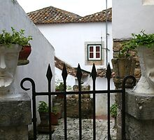 The Gate Keepers - Obidos by Marilyn Harris