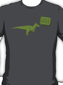 ORIGAMI GREEN DINOSAUR T-Shirt