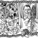 2004 Death of Ronald Reagan and the Wizard of Oz at Abu Graib by Davol White
