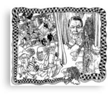 2004 Death of Ronald Reagan and the Wizard of Oz at Abu Graib Canvas Print