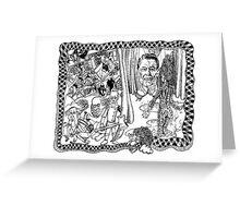 2004 Death of Ronald Reagan and the Wizard of Oz at Abu Graib Greeting Card