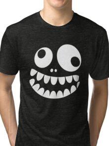 Crazy Monster Face Tri-blend T-Shirt