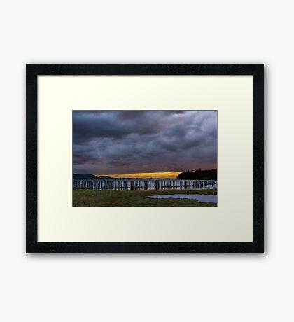 Lummi Bay Sunset  Framed Print