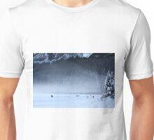Hockey on Lake Louise Unisex T-Shirt