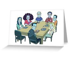 Rick and Morty: The Study Group Greeting Card
