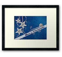 Silver Stars Framed Print