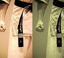 Vintage Karate ~ Black Belts Collage (Limited Edition) by LiveVintage