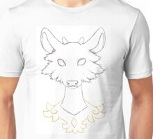 Axolotl Fawn Outlines Unisex T-Shirt