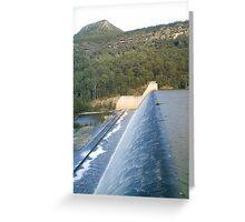 Spillway at Tallowa Dam, Shoalhaven Greeting Card