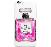 Chanel 5 pink iPhone Case/Skin