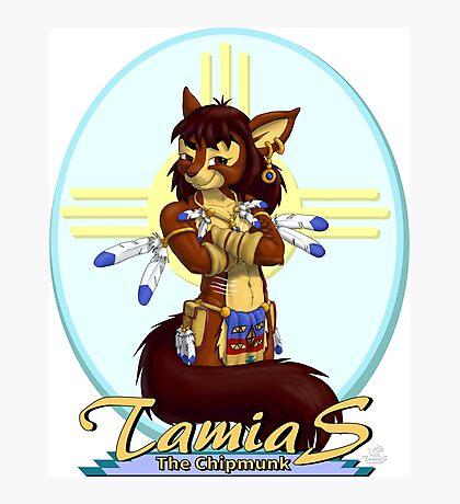 Tamias the Chipmunk Photographic Print