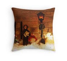 A mantle scene Throw Pillow