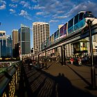 Sunset at Pyrmont Bridge, Sydney by Chris Westinghouse