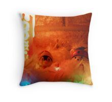 We're up to our necks in snow Throw Pillow
