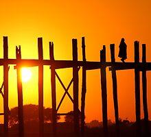 Sunset Walk by Thaw Zin