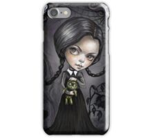 Gloomy Girl Wednesday Addams iPhone Case/Skin