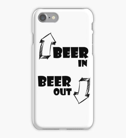 Beer In, Beer Out iPhone Case/Skin