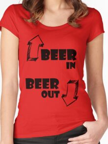Beer In, Beer Out Women's Fitted Scoop T-Shirt