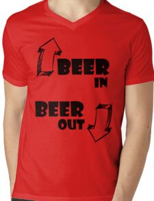 Beer In, Beer Out Mens V-Neck T-Shirt