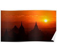 Bagan Sunrise Poster