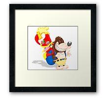 Ren and Stimpy x Banjo-Kazooie Framed Print