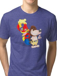Ren and Stimpy x Banjo-Kazooie Tri-blend T-Shirt